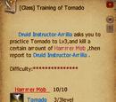 Training of Tornado