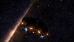 E-D - Asp Explorer - Red Pharao Supercruise Aft View