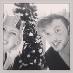 Alex (right) with Ellie for Christmas