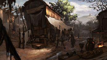Fantasy art tristram concept diablo iii caravan 1600x900 30969