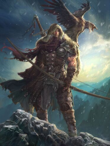 1056x1394 11052 Winter is coming 2d illustration winter hunter archer warrior fantasy picture image digital art