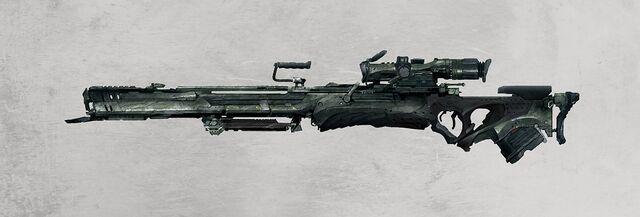 File:1276x432 11534 Rail sniper rifle 2d sci fi gun weapon rifle concept art picture image digital art.jpg