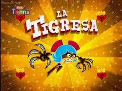 La Tigresa title card by mexopolis