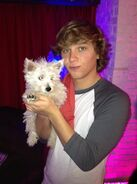 Keaton with sampson