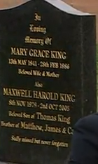 EMMERDALE MARY KING GRAVE