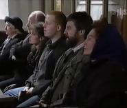 Emmie dingles at joe sugden's funeral