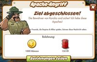 Apache-Angriff Belohnung (German Reward text)
