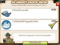 Die Zukunft unserer Marine (German Mission text)