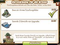 Verstärkung für die Armee (German Mission text)