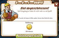 3 2 1 Start Belohnung (German Reward text)