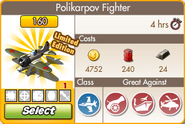 Polikarpov Fighter Profile