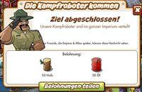 Die Kampfroboter kommen Belohnung (German Reward text)