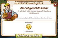 Ressourcenmagnat Belohnung (German Reward text)