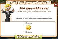 Park des Kommandanten Belohnung (German Mission reward)