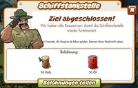 Schiffstankstelle Belohnung (German Mission Reward)