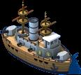 Vintage Battleship Front