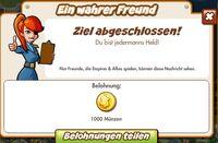 Ein wahrer Freund Belohnung (German Reward text)