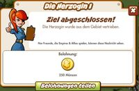 Die Herzogin I Belohnung (German Reward text)