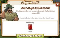 Jäger-Killer Belohnung (German Reward text)