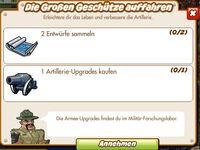 Die Großen Geschütze auffahren (German Mision text)