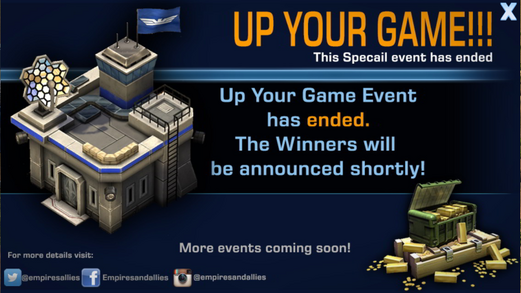 Mobile upyourgame ended