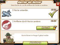 Harrier als Retter (German Mission text)