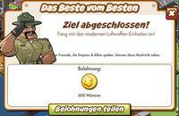 Das Beste vom Besten Belohnung (German Reward text)