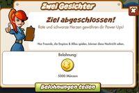 Zwei Gesichter Belohnung (German Reward text)