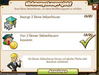 Wohnungsbauprojekt (German Mission text)