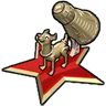 Goal Space Dog Statue