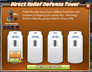 Direct Relief Defense Tower pop up