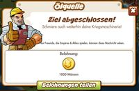 Ölquelle Belohnung (German Mission reward)