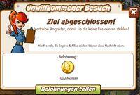 Unwillkommener Besuch Belohnung (German Mission reward)