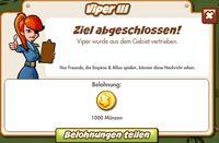 Viper III Belohnung (German Reward text)