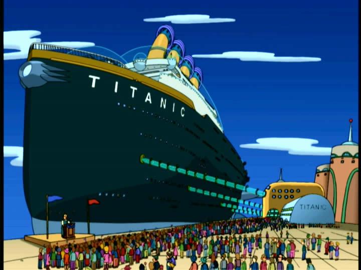 Titanic futurama wiki fandom powered by wikia - Construccion del titanic ...
