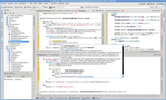 File:KDevelop 4 Screenshot.png