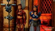 Pirena and Amihan in the armory