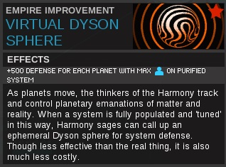 Virtual dyson sphere