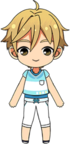 Tomoya Mashiro Late Summer chibi