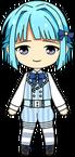 Hajime Shino Tea Party chibi