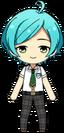 Kanata Shinkai summer student uniform chibi