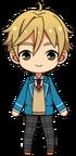 Tomoya Mashiro student uniform chibi