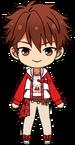 Chiaki Morisawa Kitty Red Outfit chibi