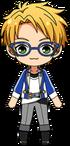 Makoto Yuuki academy idol uniform chibi