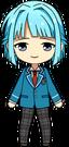 Hajime Shino student uniform chibi