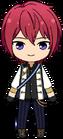Tsukasa Suou knights uniform chibi