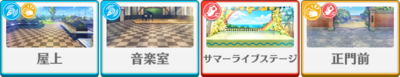 Kiseki☆The Preliminary Match of the Summer Live Makoto Yuuki locations