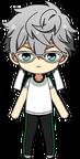 Izumi Sena PE Uniform (White Team + Glasses) chibi