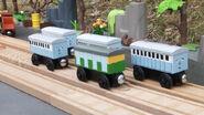 Narrow gauge coaches blue
