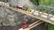 Scruff crosses the Extension bridge.